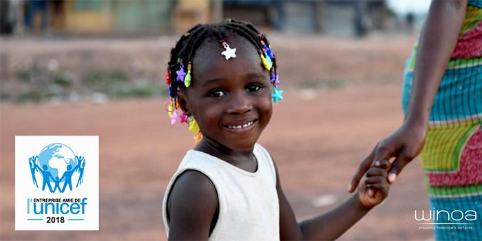 Winoa si preoccupa della soddisfazione dei suoi clienti e sostiene l'UNICEF!