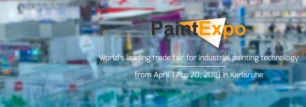 Come and join us in Karlsruhe for Paint Expo 2018 Hall 2 - booth 2120